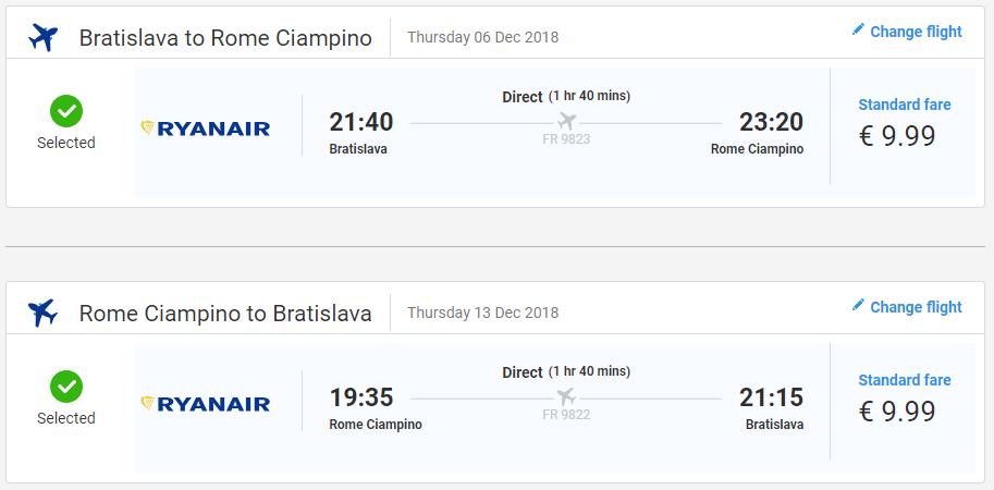 Predvianočný Rím z Bratislavy. Spiatočné letenky od 20 eur