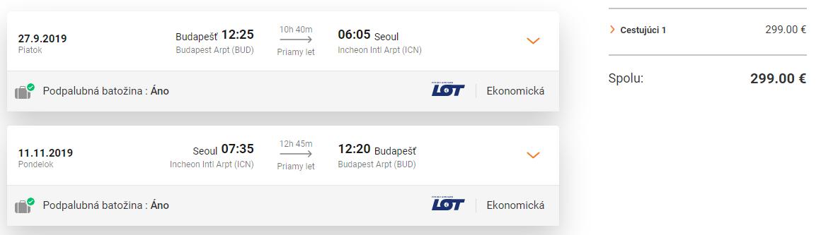 Priame lety z Budapešti do Soulu s letenkami od 299 eur