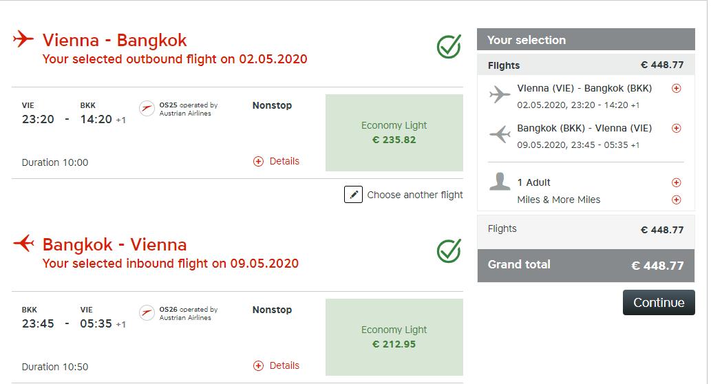 Priame lety z Viedne do Bangkoku od 449 eur