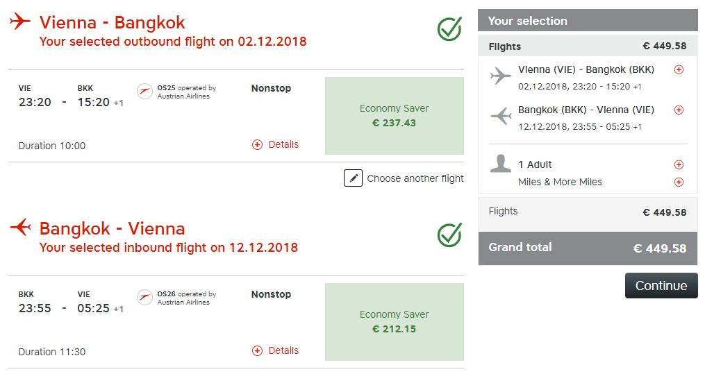 Priame lety z Viedne do Bangkoku s Austrian Airlines od 449 eur