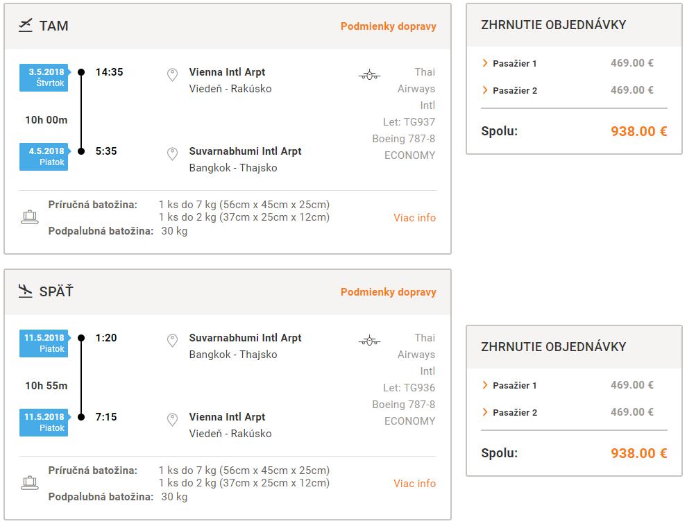 Priame lety z Viedne do Bangkoku s Thai Airways od 469 eur