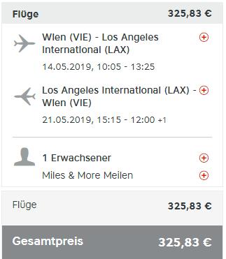 Priame lety z Viedne do Los Angeles 326 eur