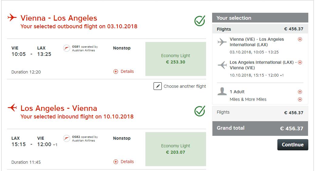 Priame lety z Viedne do Los Angeles s Austrian Airlines už od 456 eur