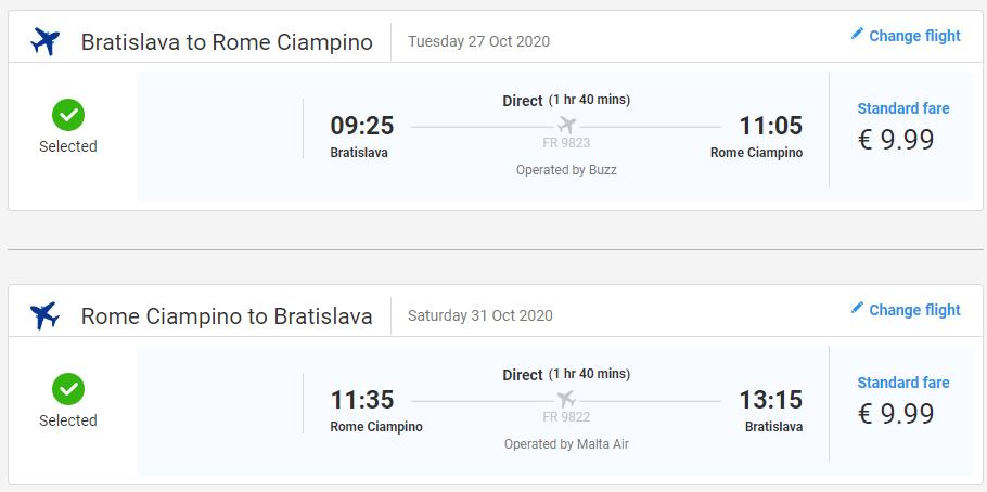 Rím v jesenných termínoch s letenkami z Bratislavy od 20 eur