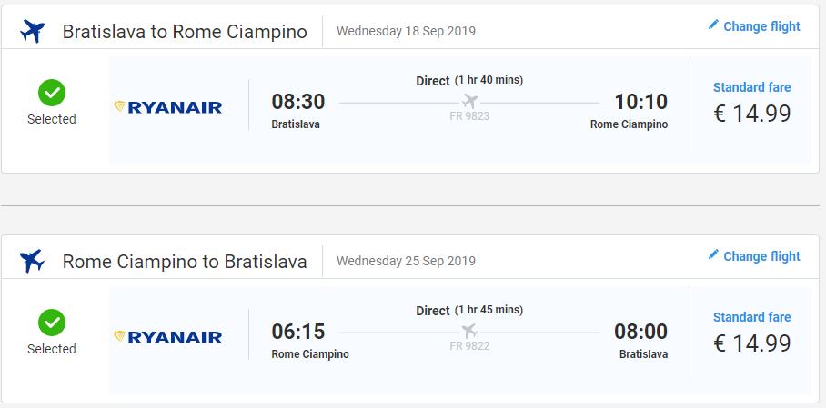 Rím z Bratislavy koncom leta s letenkami od 30 eur
