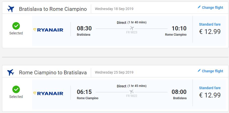 Rím z Bratislavy v septembrových termínoch s letenkami od 26 eur