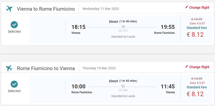 Rím z Viedne s letenkami od 16 eur
