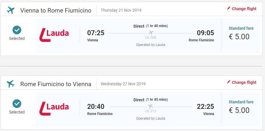 Rím z Viedne v novembrových termínoch s letenkami od 10 eur