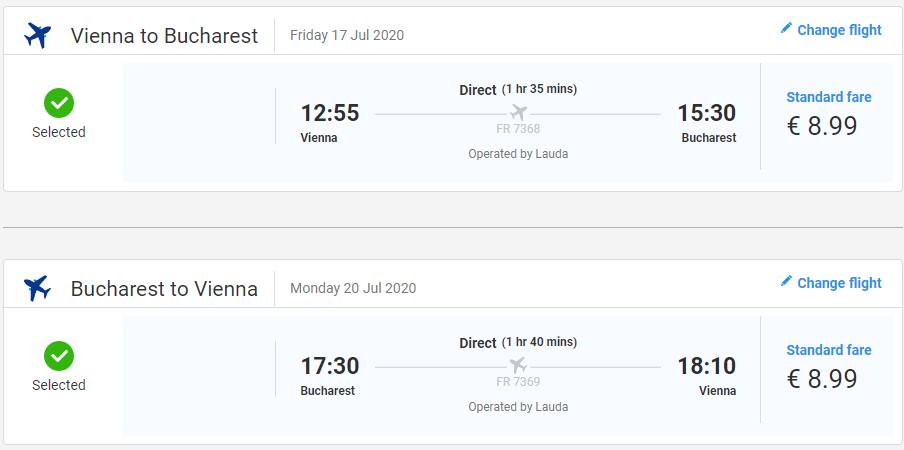 RUMUNSKO - Bukurešť z Viedne cez letné prázdniny s letenkami od 18 eur