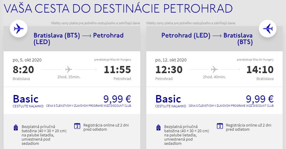 RUSKO - Petrohrad z Bratislavy s letenkami od 20 eur