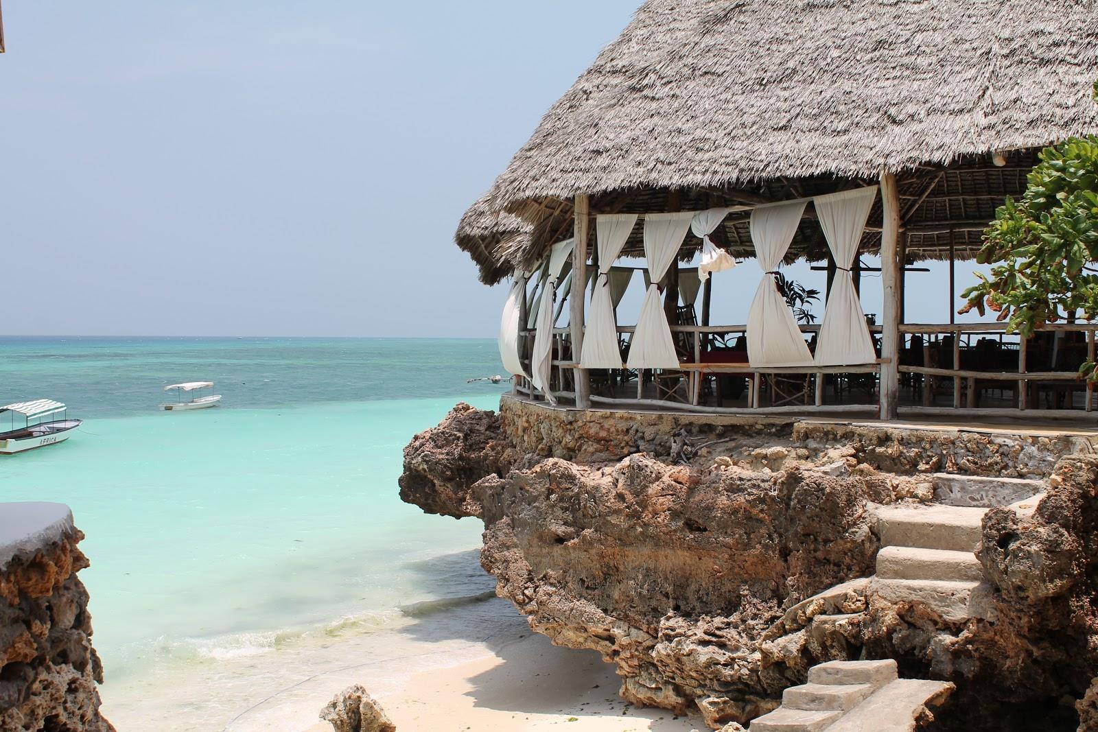 Reštaurácia na pláži Nungwi, Zanzibar