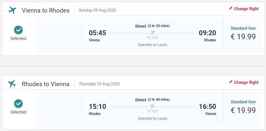 Rhodos z Viedne cez letné prázdniny s letenkami od 40 eur