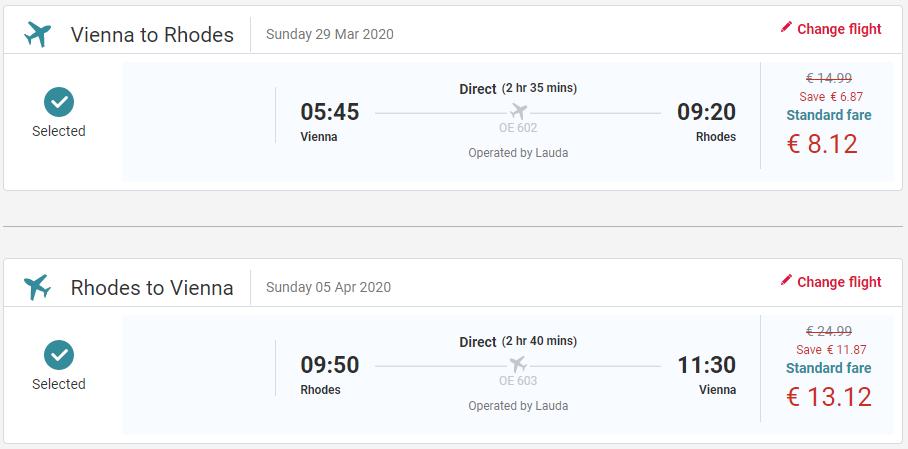 Rhodos začiatkom jari s letenkami z Viedne od 21 eur