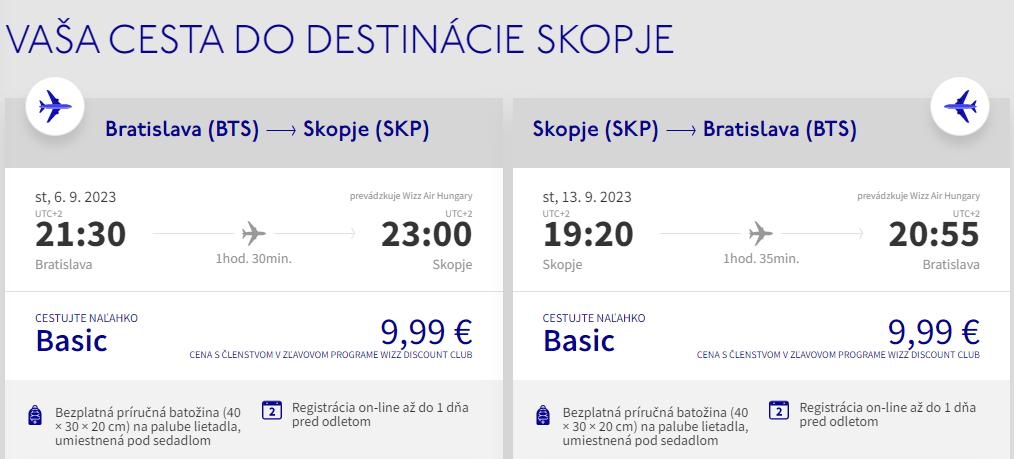 SEVERNÉ MACEDÓNSKO - Skopje z Bratislavy koncom leta s letenkami od 20 eur