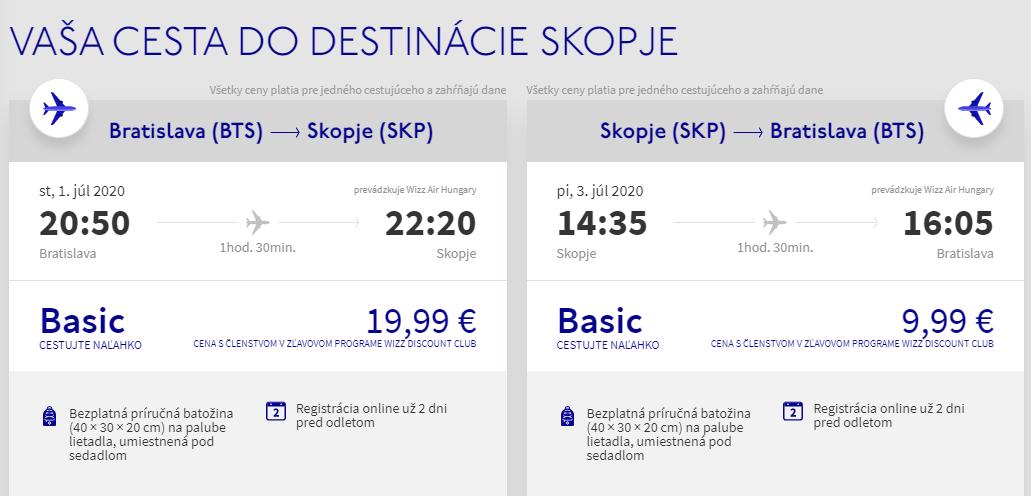 SEVERNÉ MACEDÓNSKO - Skopje z Bratislavy začiatkom prázdnin s letenkami od 30 eur