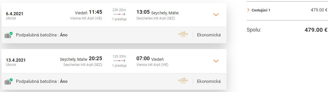 SEYCHELY - Mahe z Viedne s letenkami od 479 eur