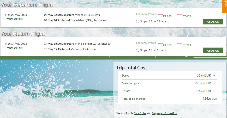 SEYCHELY - Spiatočné letenky z Viedne s Ethiopian Airlines od 425 eur