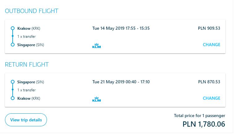 SINGAPUR - Spiatočné letenky z Krakova od 415 eur