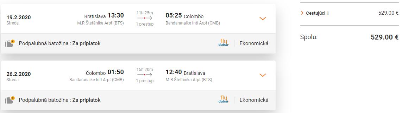SRÍ LANKA - Colombo z Bratislavy s letenkami od 529 eur