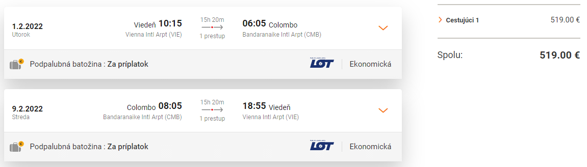 SRÍ LANKA - Colombo z Viedne s letenkami od 519 eur