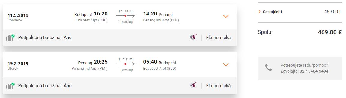 S Qatar Airways do Malajzie. Ostrov Penang z Budapešti s letenkami od 469 eur