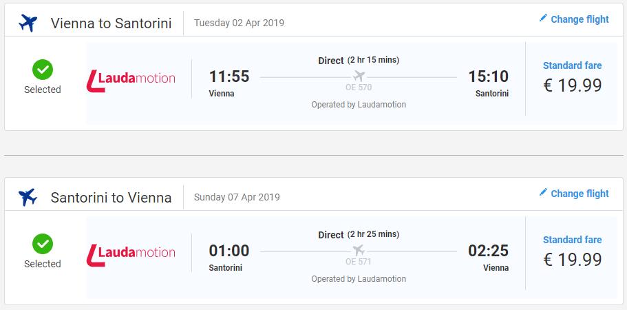 Santorini z Viedne počas jarných mesiacov s letenkami od 40 eur