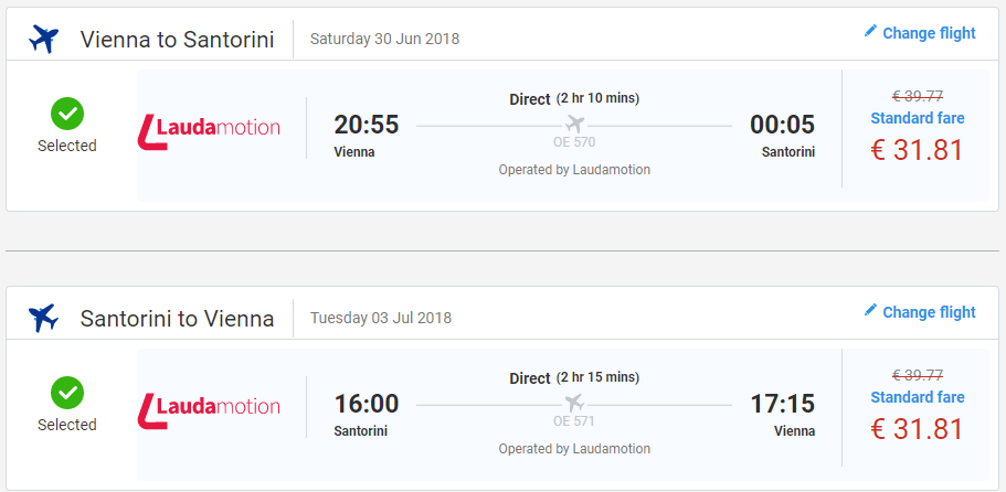 Santorini z Viedne počas letných prázdnin od 64 eur