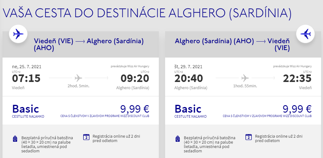 Sardínia cez letné prázdniny. Alghero z Viedne s letenkami od 20 eur