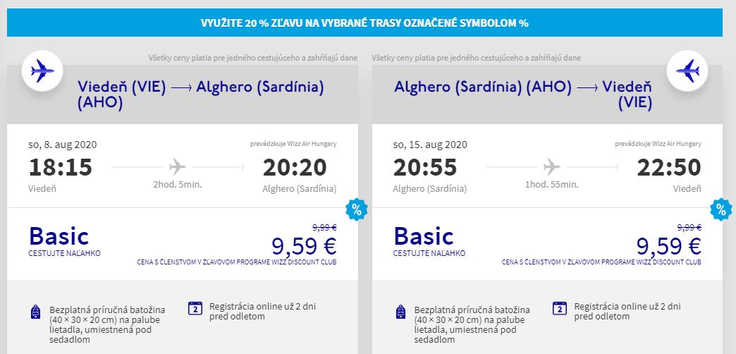 Sardínia cez letné prázdniny. Letenky z Viedne už od 19 eur