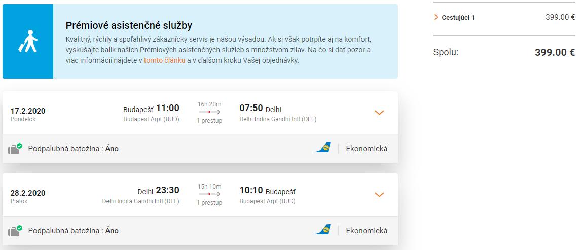 Dillí z Budapešti s letenkami od 399 eur