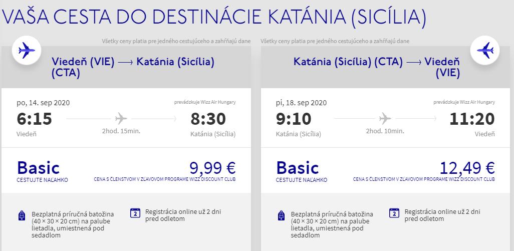Sicília koncom leta. Catania z Viedne s letenkami od 22 eur