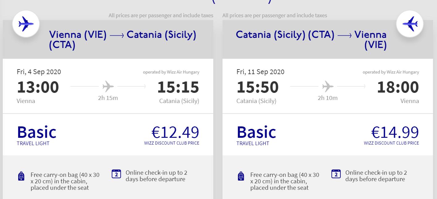 Sicília koncom leta. Catania z Viedne s letenkami od 27 eur