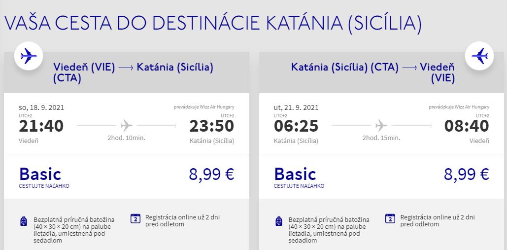 Sicília v septembrových termínoch. Catania z Viedne s letenkami od 18 eur