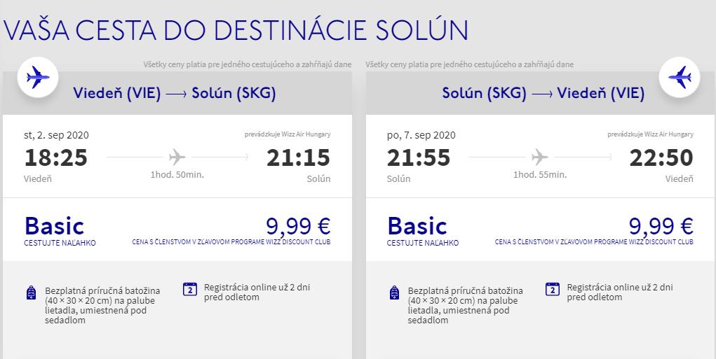 Solún z Viedne koncom leta s letenkami od 20 eur