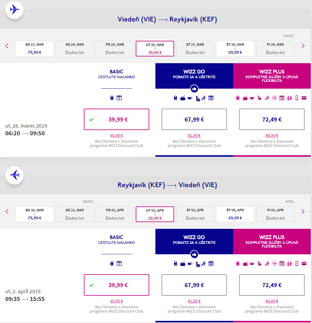 Spiatočné letenky do Reykjavíku s novou linkou Wizzair od 80 eur