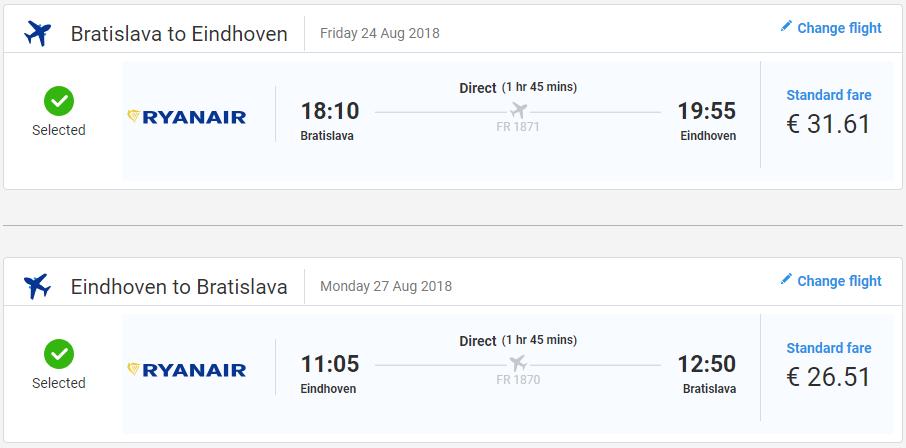 Spiatočné letenky z Bratislavy od 58 eur