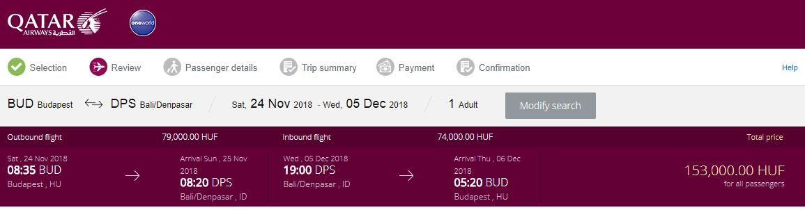 Spiatočné letenky z Budapešti od 495 eur