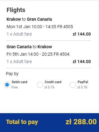 Spiatočné letenky z Krakova na Gran Canaria už od 68 eur
