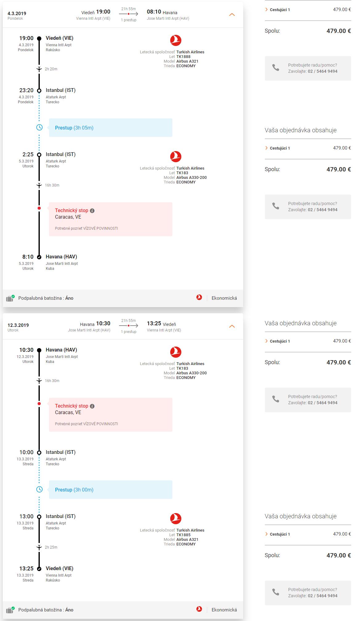 Spiatočné letenky z Viedne alebo Košíc do Havany od 479 eur