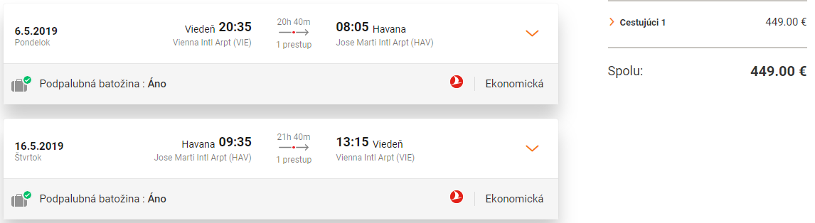 KUBA S TURKISH AIRLINES - Spiatočné letenky z Viedne do Havany od 449 eur