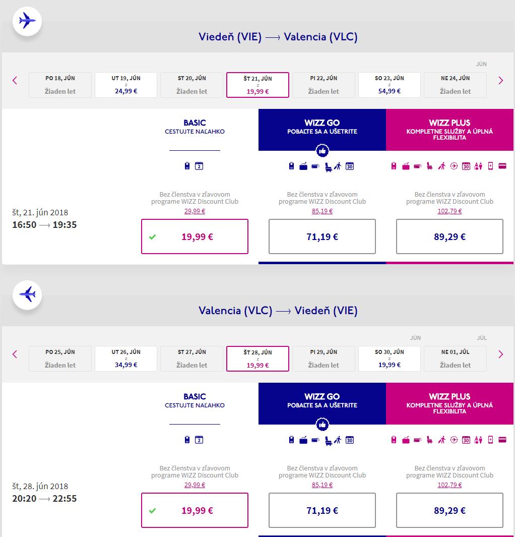 Spiatočné letenky z Viedne do Valencie už od 40 eur