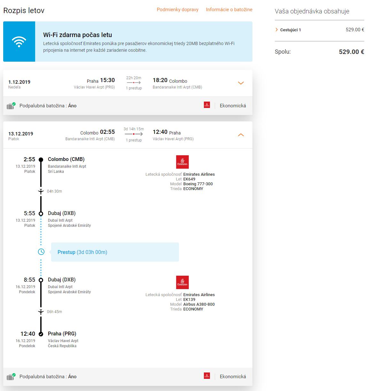 Srí Lanka + Dubaj v rámci jednej cesty. Letenky z Prahy s let.spoločnosťou Emirates už od 529 eur