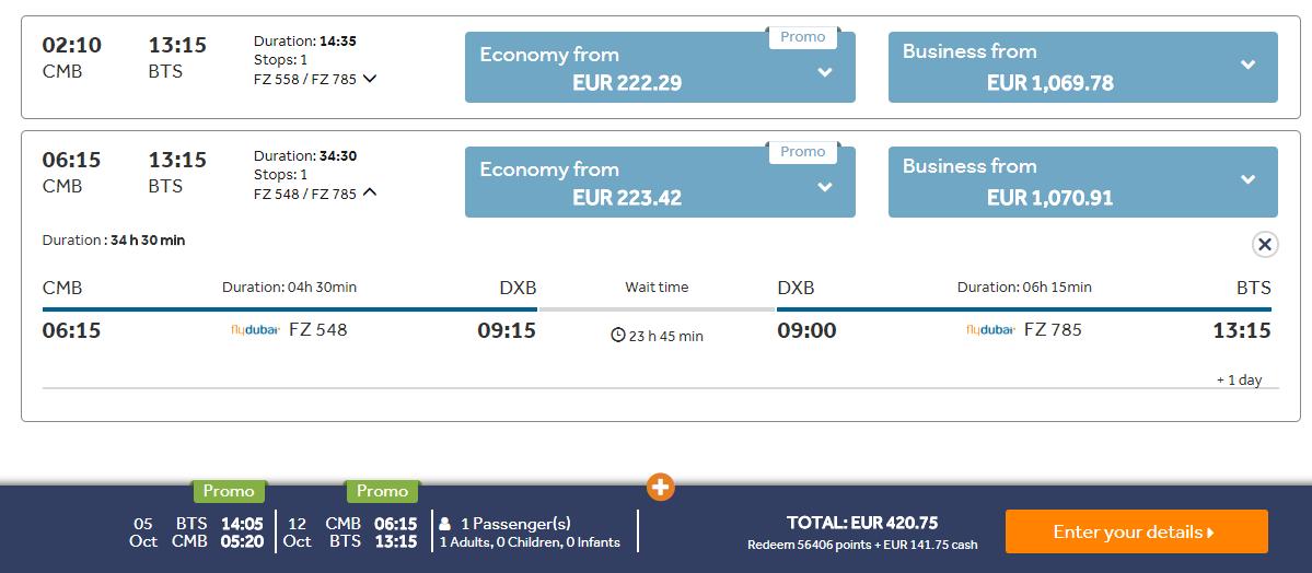 Srí Lanka z Bratislavy s jednodňovým stopoverom v Dubaji s letenkami od 420 eur
