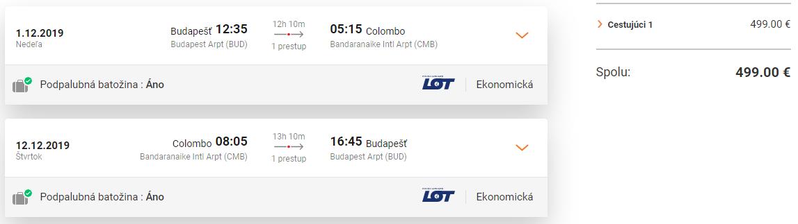 Srí Lanka z Budapešti cez hlavnú sezónu. Letenky aj s veľkou batožinou od 499 eur