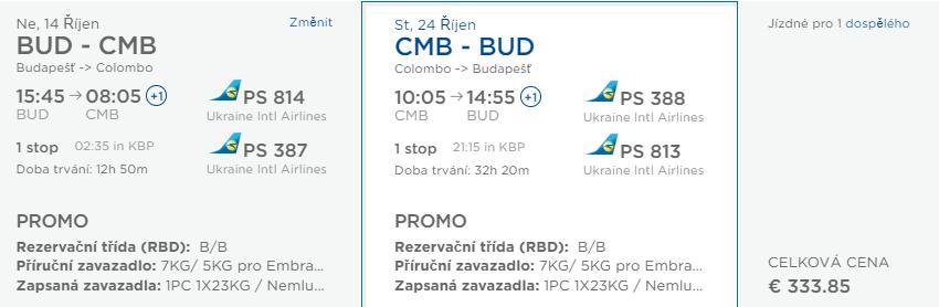 Srí Lanka z Budapešti s lacnými letenkami od 334 eur