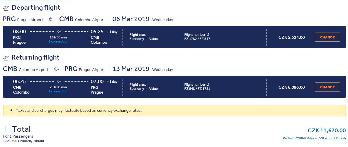 Srí Lanka z Prahy s krátkou zastávkou v Dubaji. Letenky v jarných termínoch od 449 eur