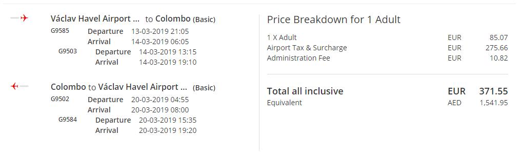 Srí Lanka z Prahy s letenkami od 372 eur - Tarifa Basic