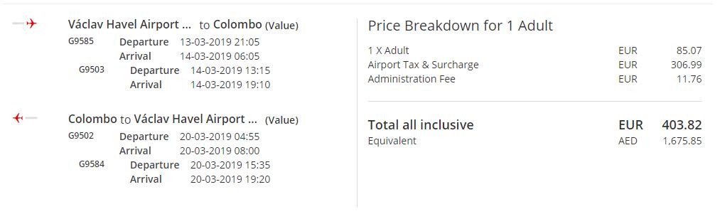 Srí Lanka z Prahy s letenkami od 404 eur - Tarifa Value