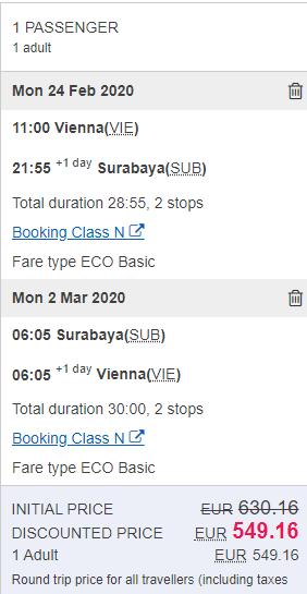 Surabaya z Viedne s letenkami od 549 e