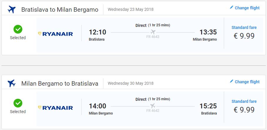 TALIANSKO - Bergamo z Bratislavy s letenkami od 20 eur